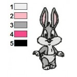 Baby Bugs Bunny Looney Tunes Embroidery Design 03