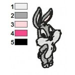 Baby Bugs Bunny Looney Tunes Embroidery Design