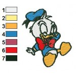 Baby Donald Duck Looney Tunes Embroidery Design 02