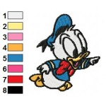 Baby Donald Duck Looney Tunes Embroidery Design 03