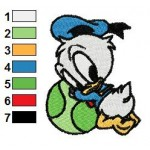 Baby Donald Duck Looney Tunes Embroidery Design 04