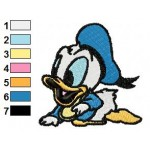 Baby Donald Duck Looney Tunes Embroidery Design