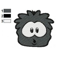Black Puffle Amazing Embroidery Design