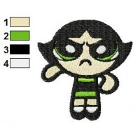 Buttercup Angry Embroidery Design