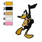 Daffy Duck Happy Embroidery Design