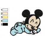 Disney Baby Mickey Mouse Sleeping Time Embroidery Design