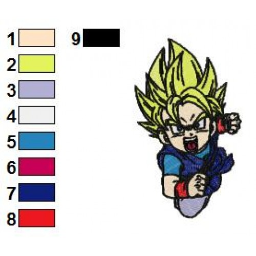 Dragon Ball Z Goku Ssj Embroidery Design