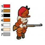 Elmer Fudd Huffy Embroidery Design