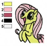 Fluttershy Enjoy Embroidery Design