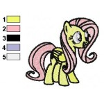 Fluttershy Happy Embroidery Design