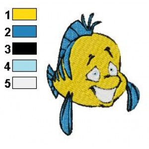 Happy Flounder Embroidery Design