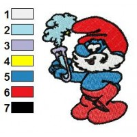 Papa Smurf Embroidery Design