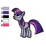 Twilight Sparkle Look Up Embroidery Design