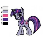 Twilight Sparkle Walking Embroidery Design