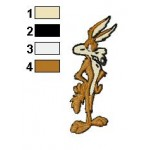 Wile E Strained Embroidery Design